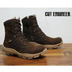 Beli Sepatu Boots Tracking Original Pria Best Seller Cut Enginer Ce 08 Brown Cicil