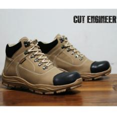 Harga Sepatu Boots Tracking Outdoor Pria Terbaru Cut Enginer Ce 06 Krem Cut Engineer Original