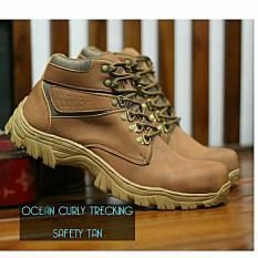 Sepatu Boots Tracking Safety Pria Terbaru - OCEAN TRACKING - Tan