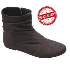 Sepatu Boots Wanita/ Import Murah / Bahan Onyx Korea Brown