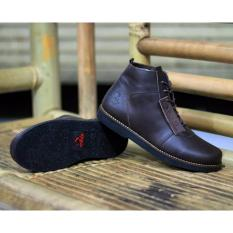 Harga Sepatu Boots Wolf Brodo Golden Coklat Fullset Murah