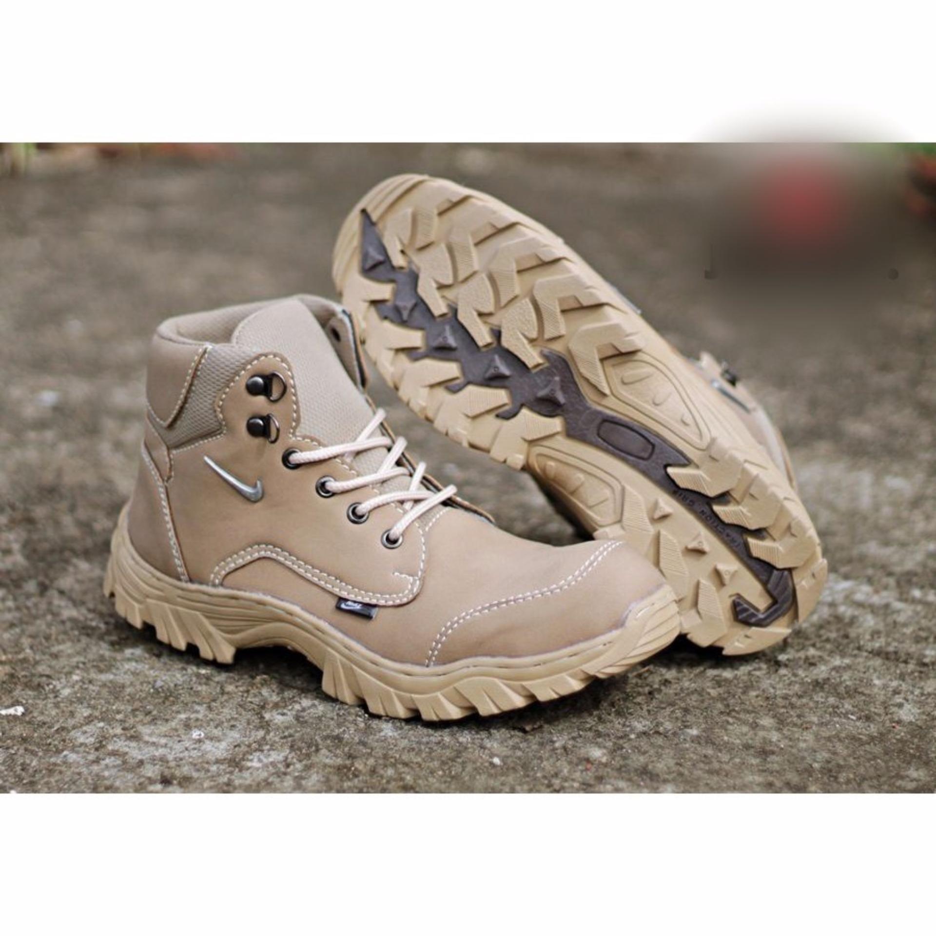 Jual Beli Sepatu Safety Baru Murah Boots Nike California Tracking Ujung Besi Zipper Pria Gunung Boot Fiyu Leather Model Kasual Ga