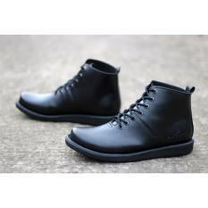 Sepatu Brodo Kulit - Sepatu Brodo Pria - Sepatu Brodo Dr. Becco Voker (HITAM)