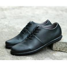 Sepatu Brodo Low Formal Kerja Casual Pria - D'BORA BRODO 01 SOL HITAM - Coklat / Hitam / Coklat muda / Grey