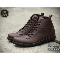 Sepatu Brodo / Sepatu Boot Bikers Mr.Joe Bara Touring Sol Gelap