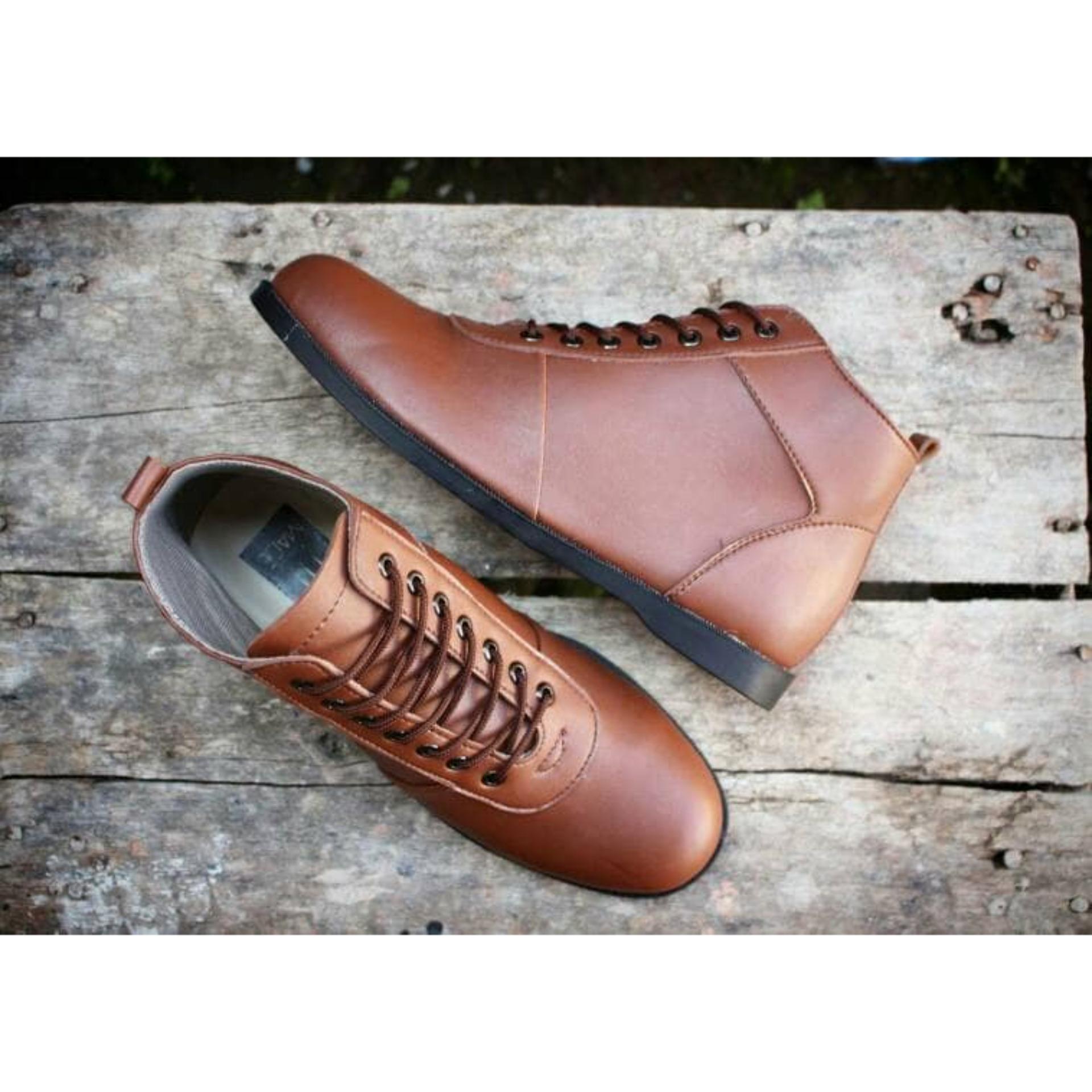 Bsm Soga Sepatu Formal Pantofel Boots Kulit Asli Kantor Kerja Pria 275 Elegan Hitam Kickers Murah L03 Brodo Termurah Original