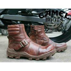 Sepatu Camel Boots Original Safety Casual Pria Kulit Asli Pull Up - 63D736