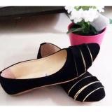 Jual Sepatu Cantik Wanita Cewek Flatshoes Warna Hitam Karani Murah
