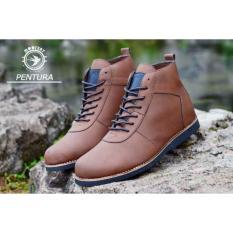 Jual Sepatu Casual Boots Moofeat Pentura Black Brown Tan Mo 001 Antik