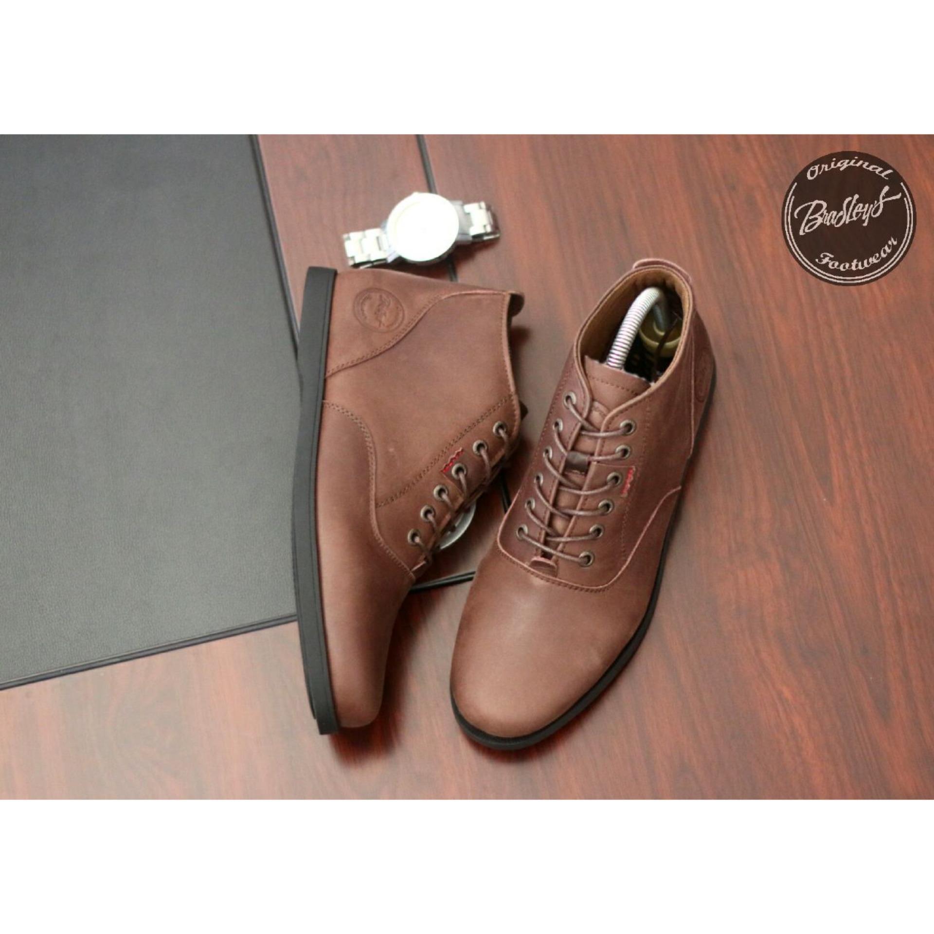 Jual Sepatu Boots High Original Kulit Asli Pria Bradleys Erol Hitam Boot Bradley Casual Footwear Brown Kets Sekolah