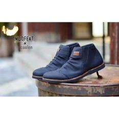 Spesifikasi Sepatu Casual Boots Slip Pria Moofeat Coolen High Black Tan Brown Mo 001 Bagus