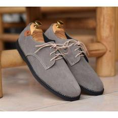 Beli Sepatu Casual Formal Kerja Pria Kulit Suede Azcost Samore Hitam Coklat Abu Muda Abu Tua Azcost Online
