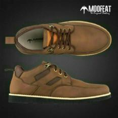 Diskon Sepatu Casual Formal Moofeat Original Brown