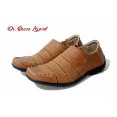 Sepatu Casual formal pria Dr. Becco Lizard Coklat Hitam Tan I Pantofel l Kulit Asli Cevany Kickers Bally