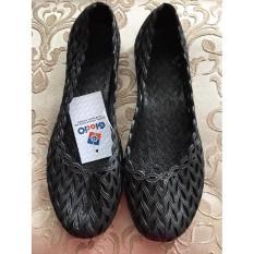 Sepatu Casual Glacio Anyaman Special Hitam