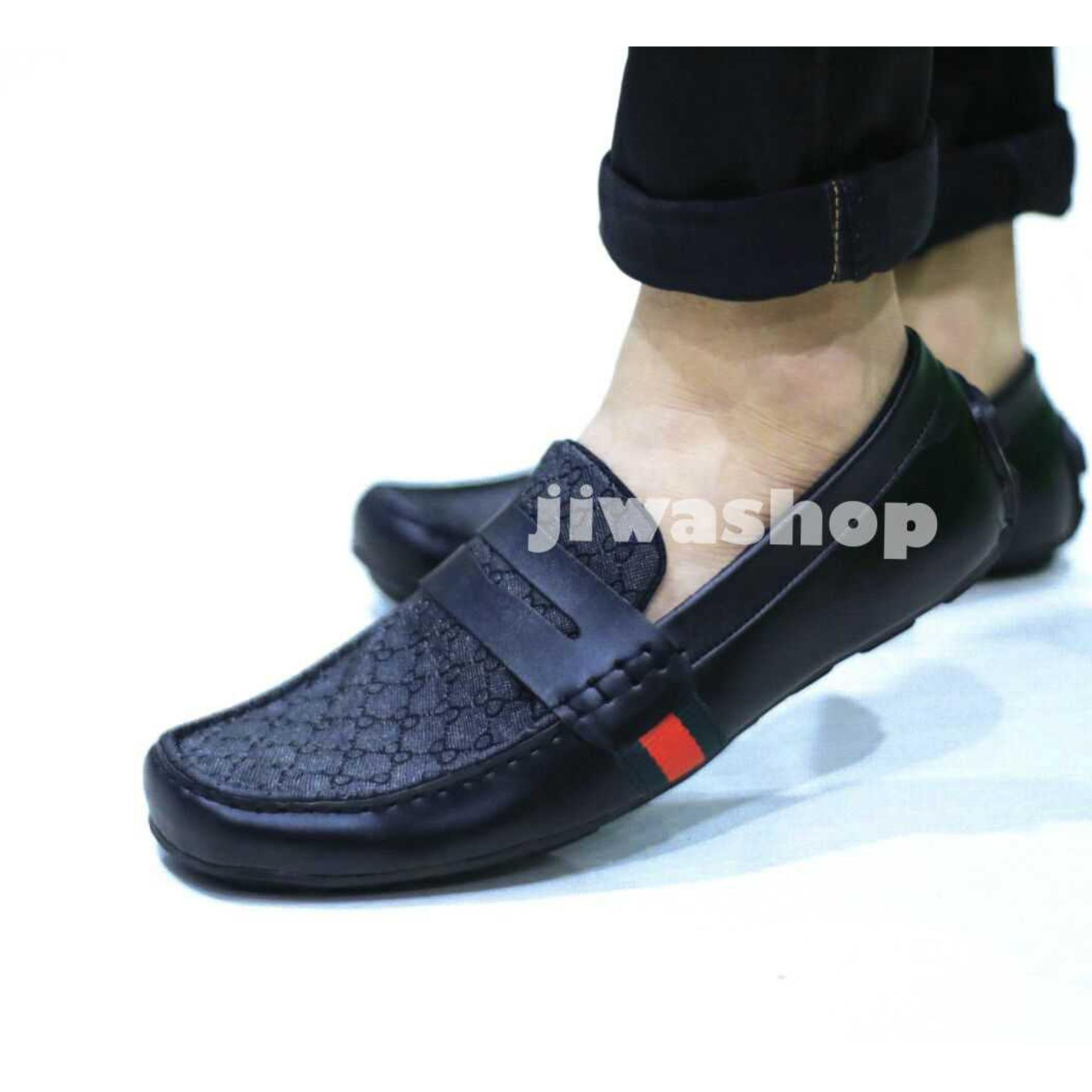 Size 39-43 sepatu casual guci pria casual formal mocasin slip on flat shoes slop  pria kickers loafers adidas 283ee121a0