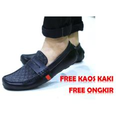 sepatu casual guci pria casual formal mocasin slip on flat shoes slop pria kickers loafers adidas (Lokal)