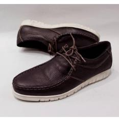 Diskon Sepatu Casual Kulit Asli Original Pria Branded 86 Ferari Casual Brown Akhir Tahun