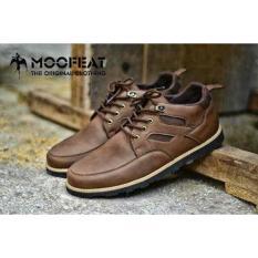 Jual Sepatu Casual Pria Low Boots Leather Orginal Moofeat Satu Set