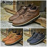Review Sepatu Casual Pria Low Boots Leather Orginal Moofeat Banten
