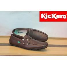 Harga Sepatu Casual Pria Slip On Pria Kickers Chapra Kulit Free Kaos Kaki Kickers