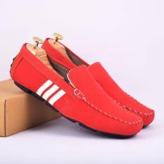Sepatu Casual Pria Slip On SUEDE GUCI Pria KICKERS Moscow GUCCI MOTIF ADIDAS - Multi (Lokal)