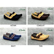 Sepatu Casual Slip On Kulit Pria Clarks Mocas / Formal / Sneakers / Slop / Fashion Cowok Termurah