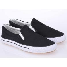 Sepatu Casual Slip On Pria Cowok Warna Hitam - RJA 096