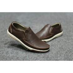 Sepatu Casual Slip On Slop Pria Cevany - Sepatu Kulit Asli - Sepatu Branded