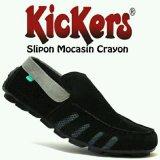 Spesifikasi Sepatu Casual Slop Slip On Pria Sepatu Kickers Mokasin Crayon Bagus
