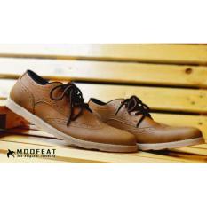 Tips Beli Sepatu Casual Tali Moofeat Original Wingtif Kerja Pria Tan Yang Bagus
