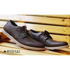 Spesifikasi Sepatu Casual Tali Moofeat Original Wingtif Kerja Pria Brown Lengkap Dengan Harga