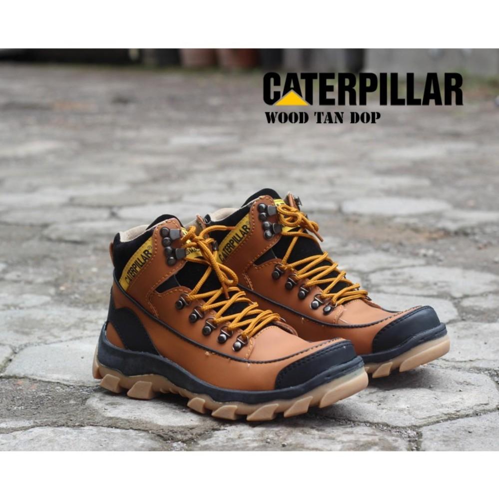 MURAH JUAL Sepatu Caterpillar Boots Safety Wood Warna TAN SEMARANG af977aaf82