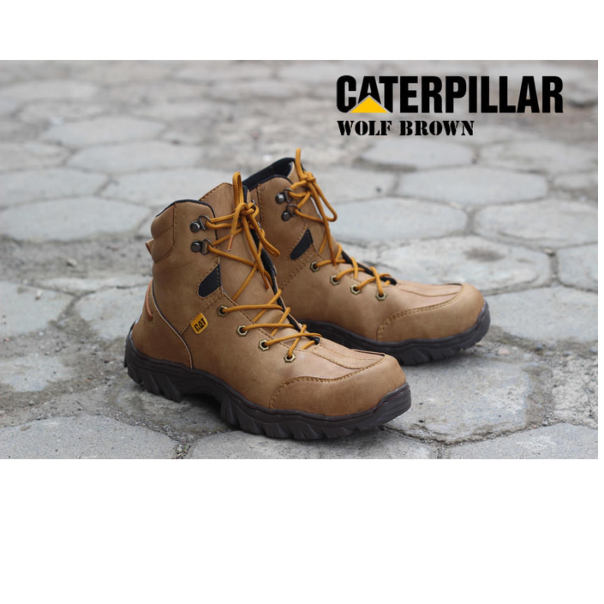 Sepatu Caterpillar Boots Wolf Brown