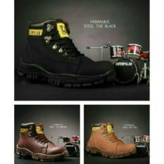 Sepatu Caterpillar Hydraulic Boots Safety Tracking Kulit Full Up Murah
