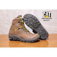sepatu caterpillar kulit Sepatu boots tracking Pria outoor gunung safety