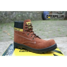 Sepatu caterpillar safety boots best seller (COKLAT)