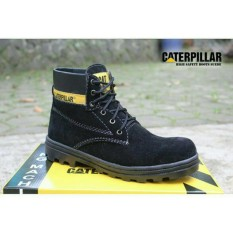 Sepatu caterpillar safety boots best seller (HITAM)