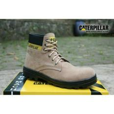 Sepatu caterpillar safety boots best seller (KREM)