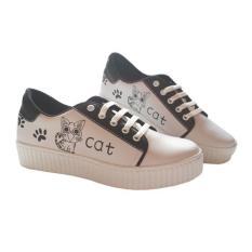 Harga Hemat Sepatu Cats Wanita Cantik Sv21 Hitam