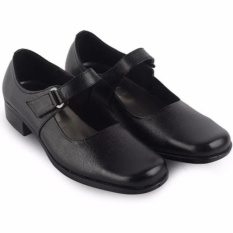 Sepatu Cewek Pantofel Formal Paskibra Kulit - Hitam