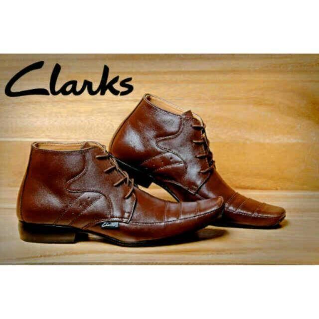 Sepatu Clarks Pantofel Premium Leather Pantopel Tali Kulit Asli