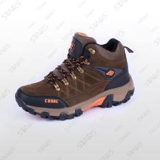 Sepatu Conae Hiking Coklat Brown Oranye