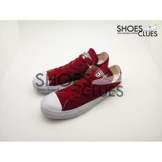 Sepatu Converse All Star Ct2 Low Maroon Real Pic High Quality - Yroutc