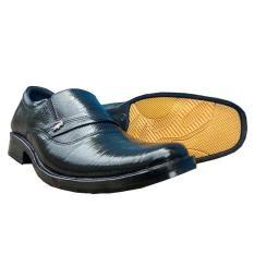 Sepatu Crocodile Kulit Asli Formal Sepatu Kerja Pria - Black