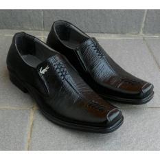 Sepatu Crocodile - Sepatu Pantofel Pria Formal 100% Kulit Asli Model Zigzag b30b633d67