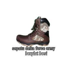 Sepatu delta Army loreng plat besi ujung nya