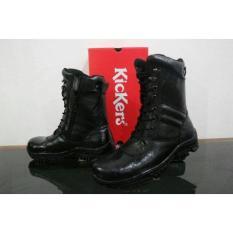 Sepatu Delta Boots Crocodile Safety - Sepatu PDL Crocodile - Sepatu Boots Proyek Polisi Tentara TNI Satpam Kulit Asli Murah Grosir