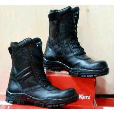 Sepatu Delta Boots Kickers Safety - Sepatu PDL Crocodile - Sepatu Boots Proyek Polisi Tentara TNI Satpam Kulit Asli Murah Grosir