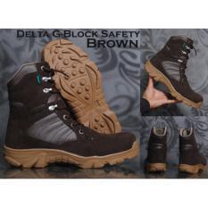 Jual Cepat Sepatu Delta Boots Safety Zimzam G Block Coklat